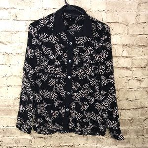 Marc by Marc Jacobs Long Sleeve Button Down Silk